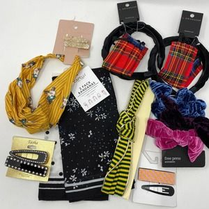Hair Accessories Bundle of Scrunchies Bandanas